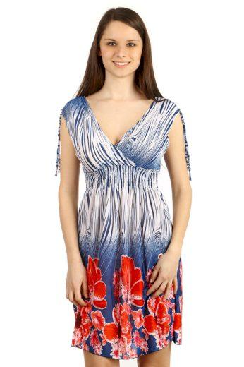 Letní šaty s potiskem květin