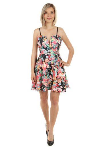 Áčkové šaty s květinovým vzorem