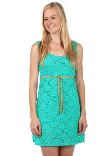 Krajkové mini šaty s páskem