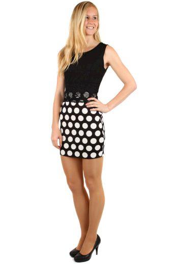 Mini šaty s puntíkovanou sukní