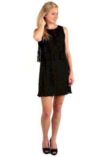 Vrstvené šaty s krajkovým horním dílem