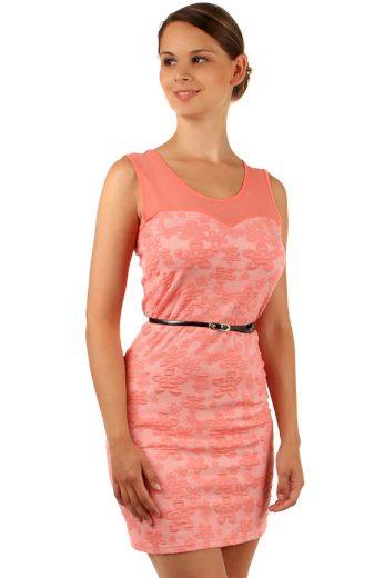 Šaty s květinovým vzorem a průhlednými rameny