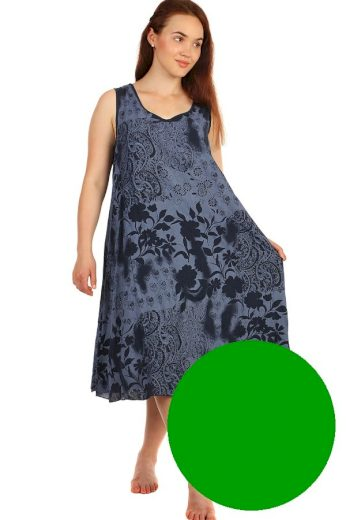 Volné šaty s květinovým vzorem a krajkovou vsadkou - i pro plnoštíhlé