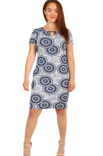 Vzorované šaty s krátkým rukávem - i pro plnoštíhlé