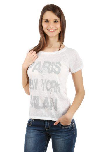 Žíhané triko s potiskem