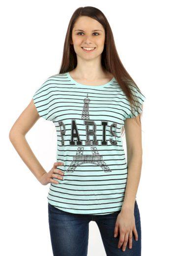 Pruhované tričko s potiskem