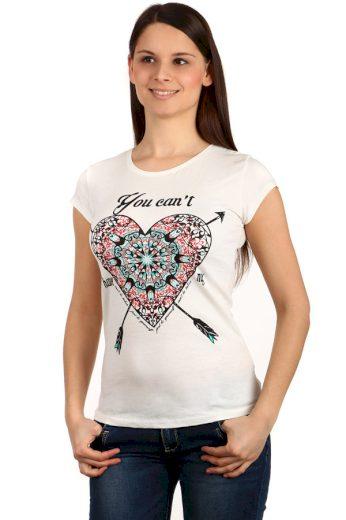 Dámské triko s potiskem srdce