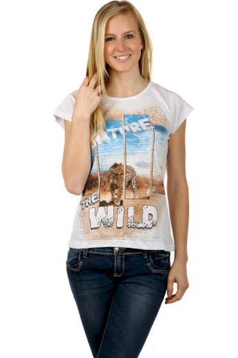 Dámské tričko se safari potiskem