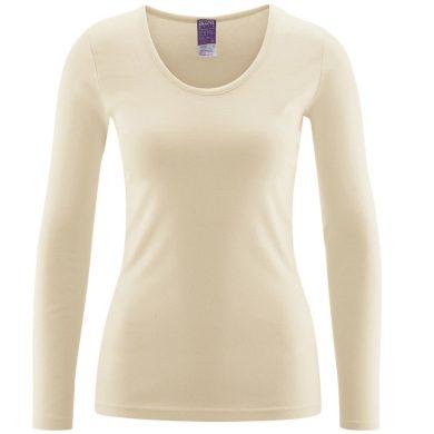 Biobavlněné dámské tričko s dlouhým rukávem