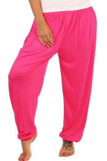 Dámské dlouhé jednobarevné harémové kalhoty
