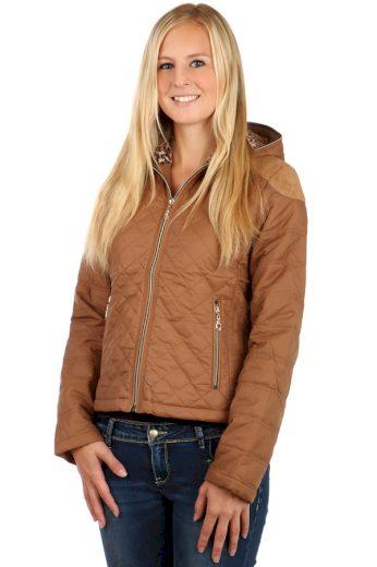 Prošívaná dámská bunda s kapucí