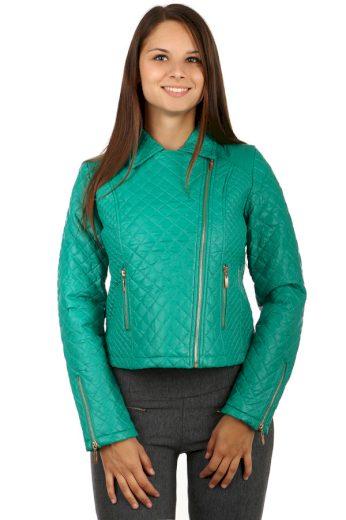 Koženková dámská bunda-křivák