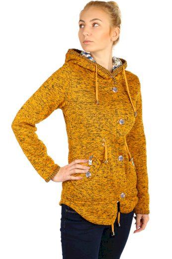 Dámská zateplená bunda s knoflíky