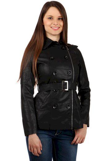 Dámský koženkový kabátek - i pro plnoštíhlé