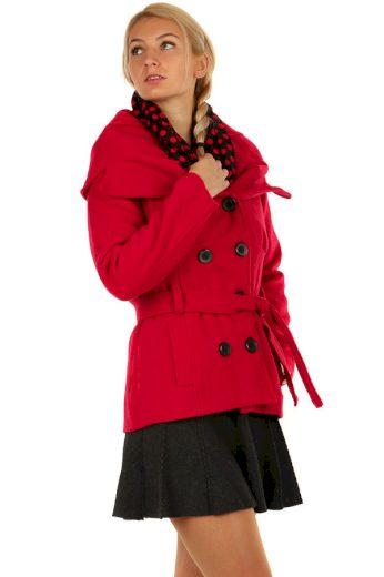 Krátký dámský kabát s límcem