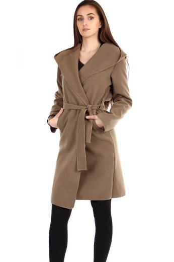 Dámský delší fleecový kabátek s kapucí