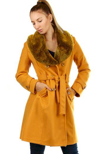 Kabát dámský s kožešinou