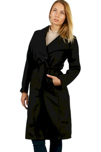 Dámský zavinovací flaušový kabát