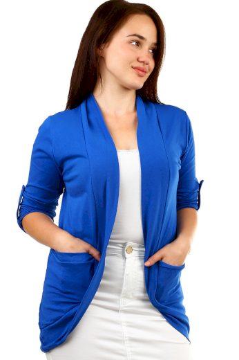 Jednobarevný cardigan s kapsami