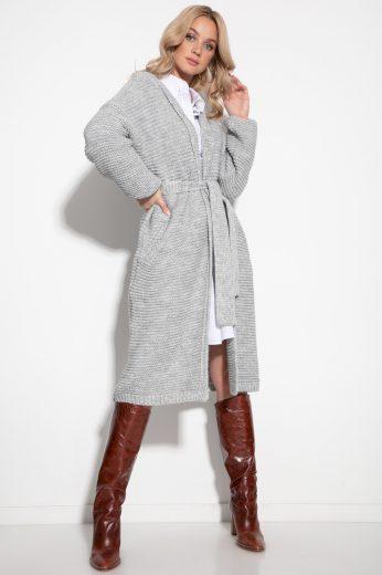 Huňatý svetrový kabátek s vlnou