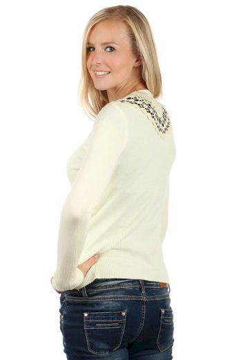 Elegantní svetřík s krajkovou vsadkou