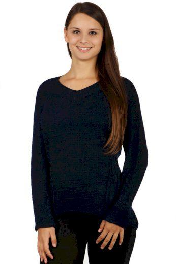 Pohodlný svetr s aplikací na zádech