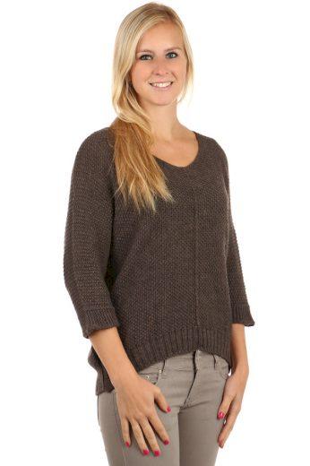 Dámský oversized svetr s 3/4 rukávy