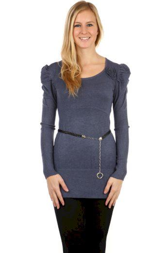 Dámský svetr s nabíranými rukávy