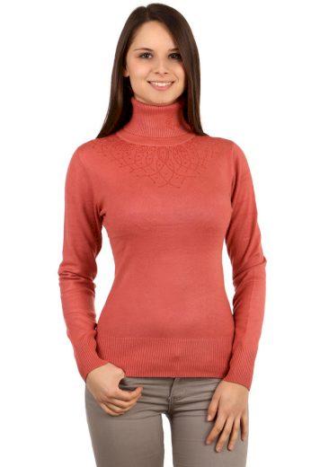 Elegantní svetr s rolákem a kamínky