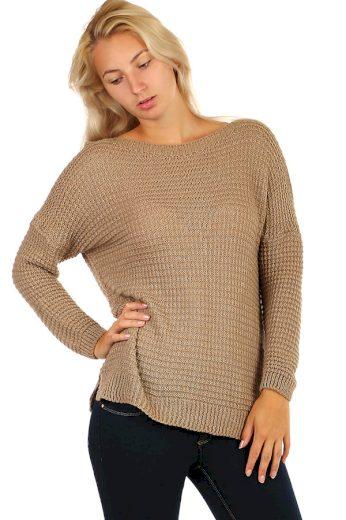 Třpytivý pletený svetr