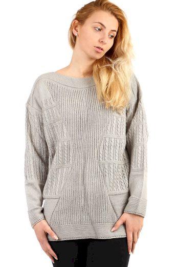 Dámský oversized svetr - i pro plnoštíhlé