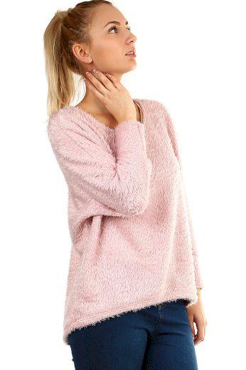 Dámský jemný svetr s chlupem