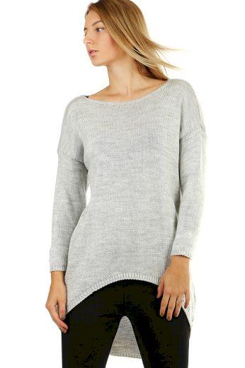 Dámský dlouhý jednobarevný oversized svetr