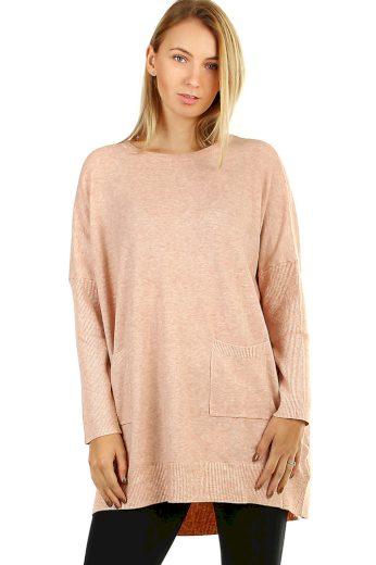 Oversized jednobarevný úpletový svetr