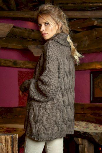 Pletený hřejivý svetr s vlnou