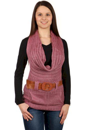 Dámská pletená vesta s páskem