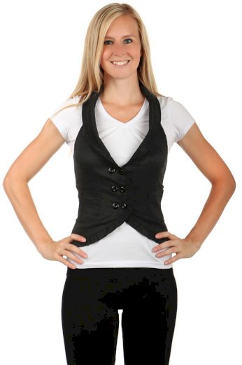 Dámská stylová vesta-i pro plnoštíhlé