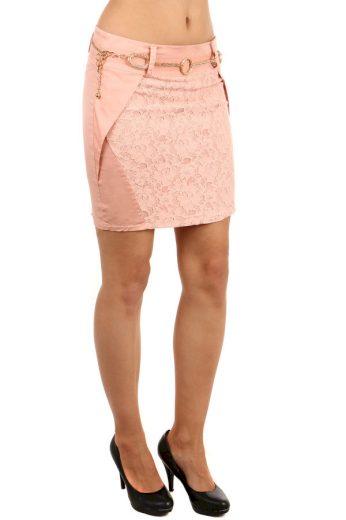 Dámská pouzdrová sukně s krajkou