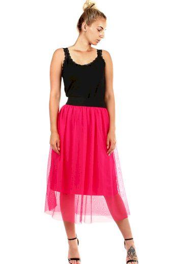 Dámská romantická tylová sukně