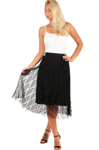 Dámská tylová plisovaná sukně