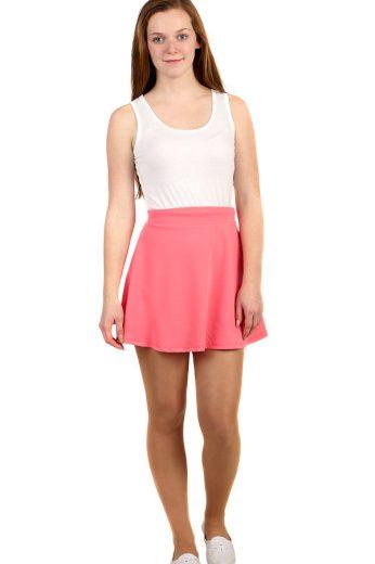 Jednobarevná áčková dámská mini sukně