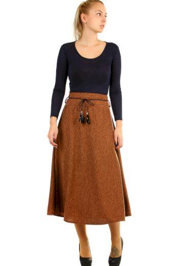 Dlouhá dámská úpletová sukně