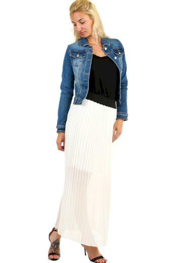 Dlouhá dámská plisovaná sukně skládaná