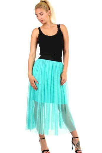 Dlouhá dámská tylová sukně