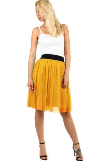 Dámská tylová midi sukně s pružným pasem