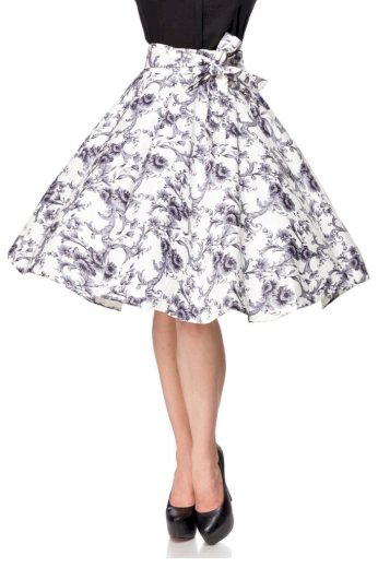 Vintage kolová sukně s potiskem