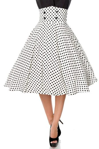 Retro kolová sukně