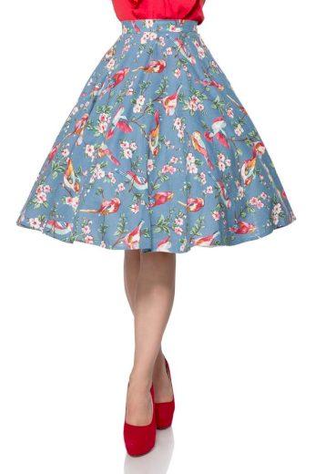Retro bavlněná kruhová sukně
