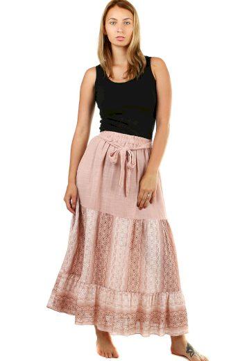Vzorovaná dámská maxi sukně