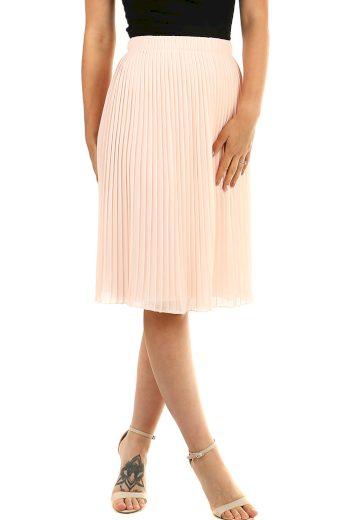Midi plisovaná dámská sukně